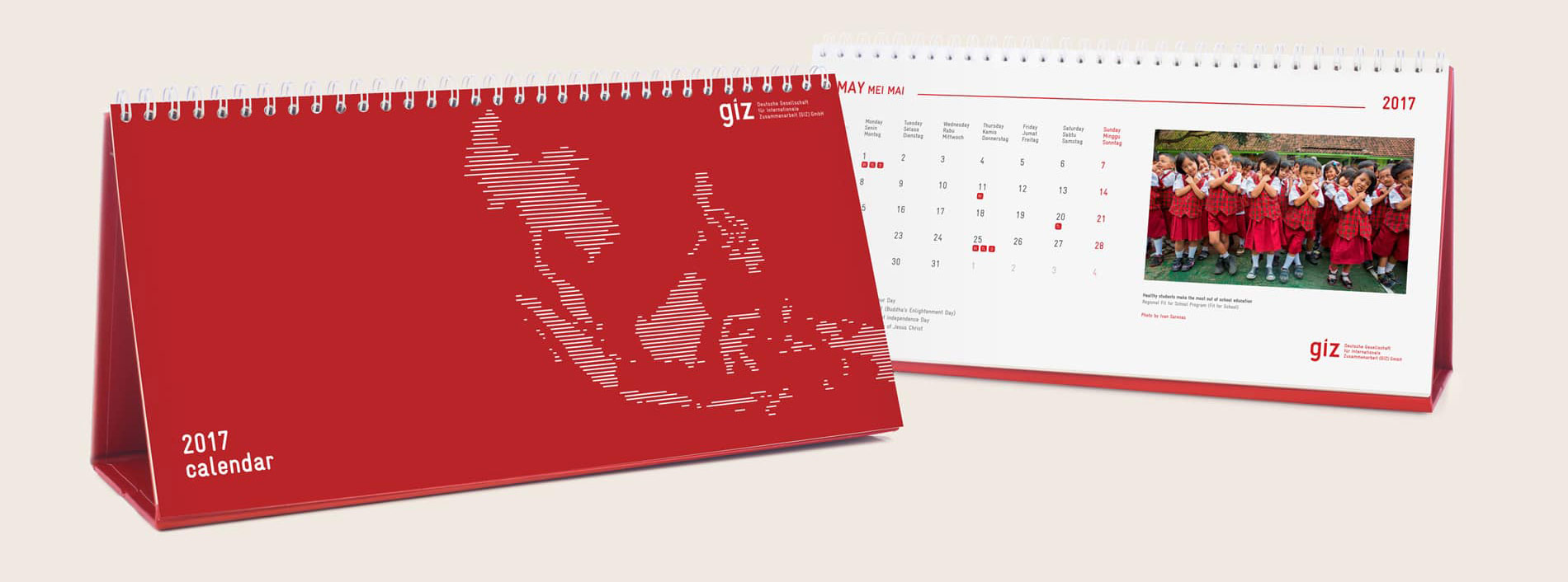 Desain Kalender giz design kalender by Kamarupa Design Group