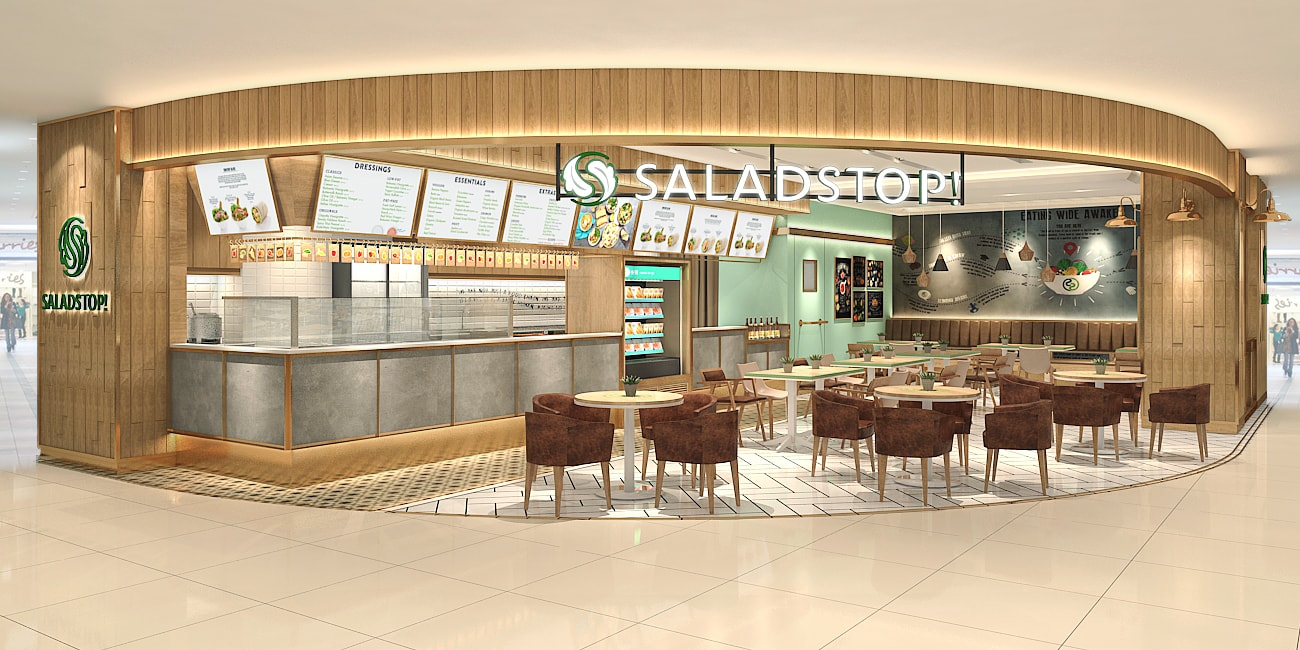 SaladStop! - restaurant interior design
